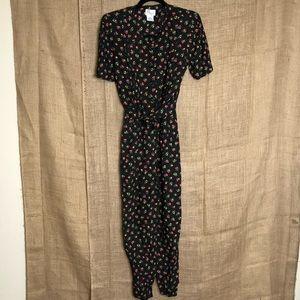 Vintage Darian Petite Jumpsuit Fruit Print 10P